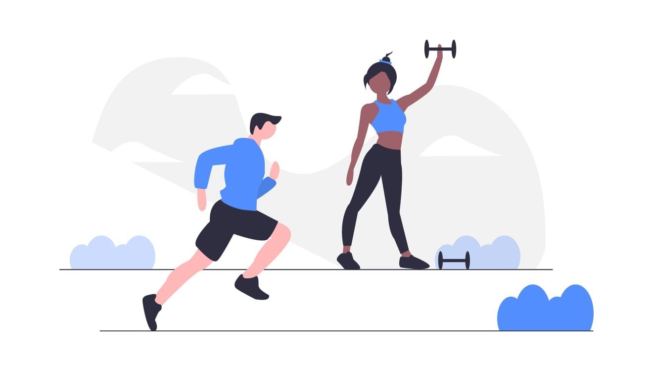 自分で運動